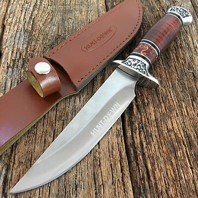 """12""""Rosewood Hunting Camping Fishing Survival Knife New Sheath Military 9113"""