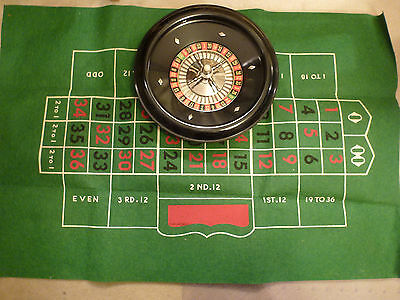 "Vintage ROULETTE Tabletop Game  MADE IN GERMANY  ORIG BOX  12"" ROUND"