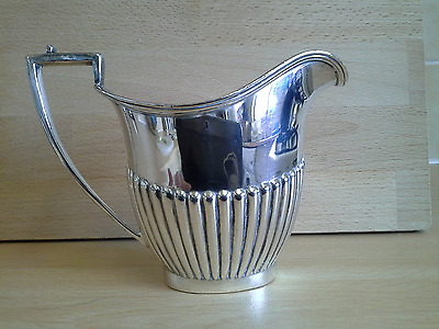 Silver Plated ? Helmet Shape Cream Or Milk Jug,