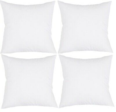 4 Cushion Inserts 45 x 45 Filled 380 grams Fluffy Cushion Insert Includes Post