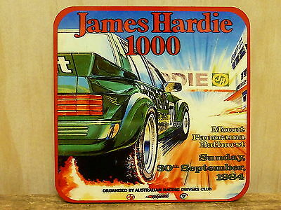 Drink Coaster Set Of 4 - James Hardie 1000 1984 Bathurst, Mount Panorama