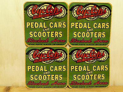 Mdf/cork Drink Coaster Set Of 4 - Cyclops Pedal Cars And Scooters