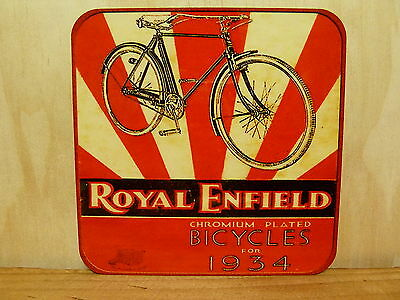 Drink Coaster Set Of 4 - Royal Enfield Bicycles For 1934