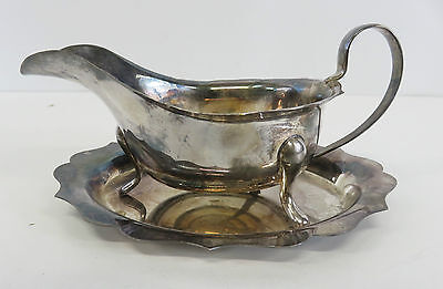 Viners Of Sheffield Alpha Plate Sauce Boat Comes With Stand