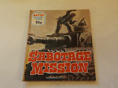BATTLE PICTURE LIBRARY NO 1247,dated 1978!,GOOD FOR AGE,VERY RARE,39 yrs old.