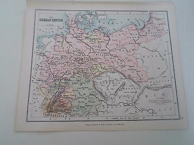 Antique Map 1890 ~ THE GERMAN EMPIRE - From Philips Atlas For Beginners  §11
