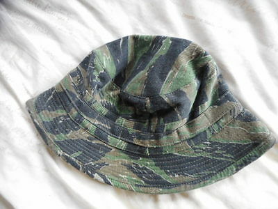 TIGER STRIPE VIETNAM war IN COUNTRY style local MADE BOONIE HAT SF LRRP SEAL MAC