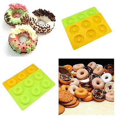 Silicone Donut Doughnut Chocolate Muffin Pan Maker Soap Cake Mold Baking Mould Z