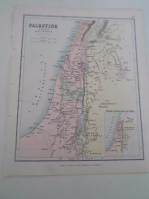 Antique Map 1890 PALESTINE - From Philips Atlas For Beginners  §20