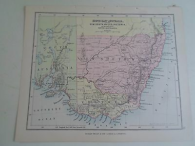 Antique Map 1890 S.E. AUSTRALIA N.S.W. From Philips Atlas For Beginners  §31