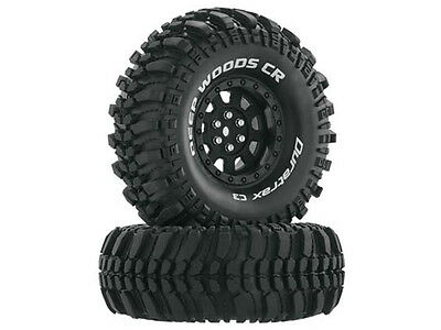 Duratrax 1.9 Deep Woods CR Tyres Mounted on Black Wheels (2) 1/10 #DTXC4026