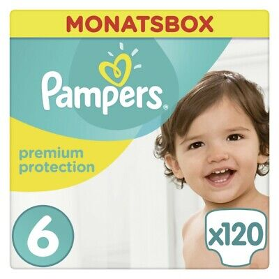 Pampers Premium Protection Gr.6 Extra Large 13-18kg Monatsbox, 120 Stück