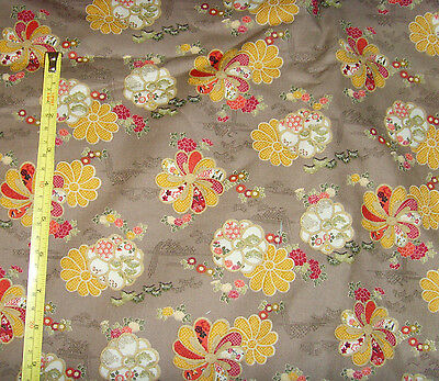 """Chic pinwheel floral fabric material sewing 40x160"""" asian floral stunning sewing"""