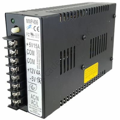 Prima Black Switching JAMMA Power Supply 5V & 12V - MWP-606