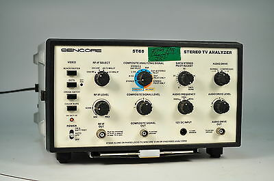 SENCORE ST66 Video Analyzer Stereo TV Analyzer