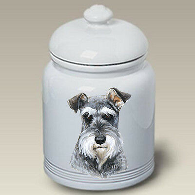 Ceramic Treat Cookie Jar - Uncropped  Schnauzer (LP) 45140