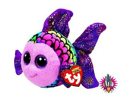 Ty Beanie Babies Boos Flippy Fish Plush Soft Toy New With Tags