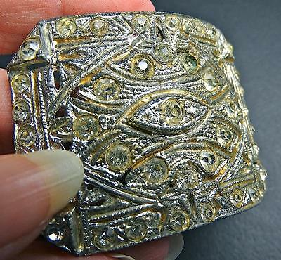 Antique Vintage Metal Art Deco Rhinestone Buckle Shoe Clip