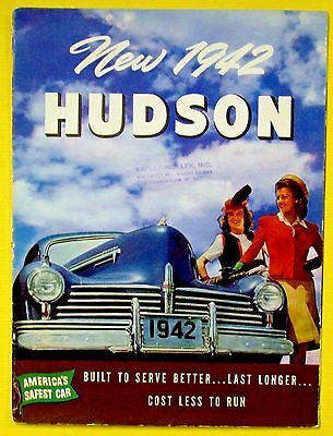 Vintage 1942 HUDSON Sales Dealer Brochure Copley Mullen Charleston West Virginia