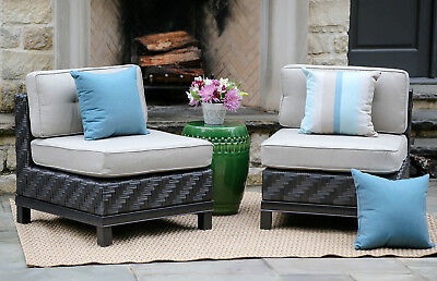 Brayden Studio Laforce Armless Chairs with Cushion Set of 2