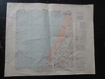 Yibna : An Old Topographical Map, 1:100000, Survey Of Palestine,1942. Vbok177
