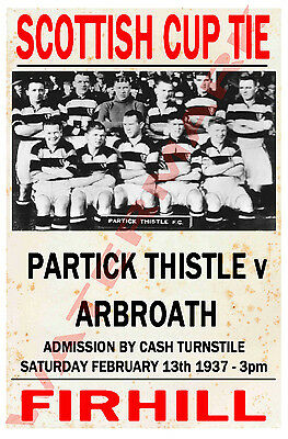 Partick Thistle - Vintage Football Poster POSTCARDS - Choose from list