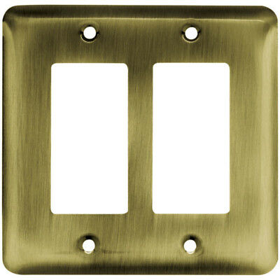 Franklin Brass Stamped Steel Round Double Decorator Wall Plate