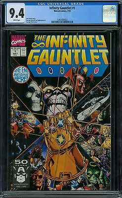 Infinity Gauntlet 1 CGC 9.4 - White Pages