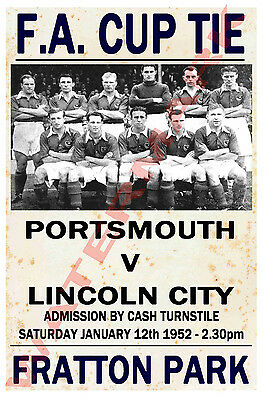 Portsmouth - Vintage Football Poster POSTCARDS - Choose from list
