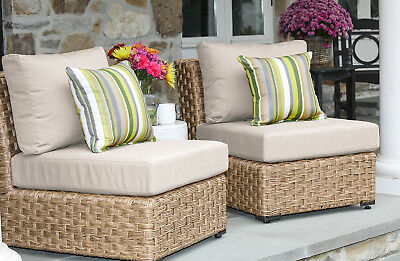 Bay Isle Home St. Johns Armless Chair with Cushion Set of 2