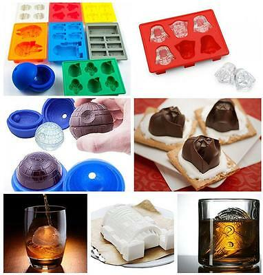 Silicone Star Wars Ice Cube Tray Chocolate Mold Cookies Soap Baking Mould DIY CB
