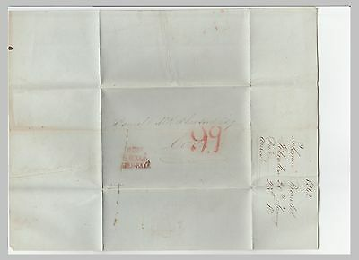 1842 Gibraltar Stampless Sfl Cover With Letter