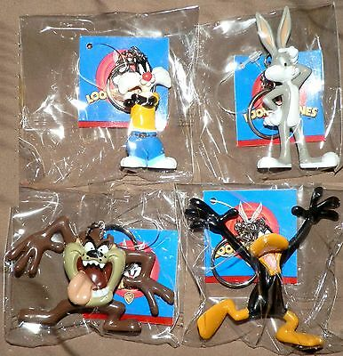New Looney Tunes Key Rings, Bugs, Sylvester, Daffy, Taz