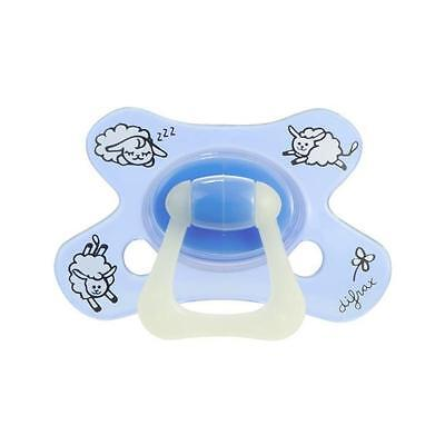 DIFRAX Sucette Bébé Natural 6 Mois+ Sheepy Baba Glow In the Dark