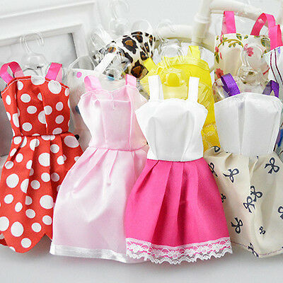 CH 10Pcs Fashion Handmade Dresses Clothes For Barbie Doll Style Random