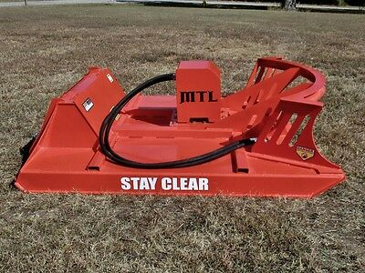 "60"" MTL Extreme Direct Drive Skid Steer Brush Cutter-3 Blade Double Flywheel"