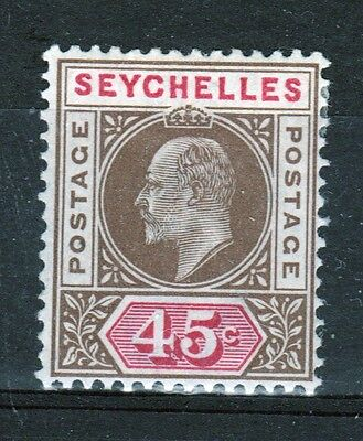 Seychelles Edward VII 45 cent mounted mint stamp from 1903.