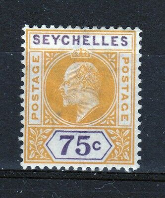 Seychelles Edward VII 75 cent mounted mint stamp from 1903.