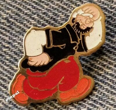 Bluto Brooch Pin~Brutus~Popeye's Nemesis & Arch-Rival~80's vintage~King Features