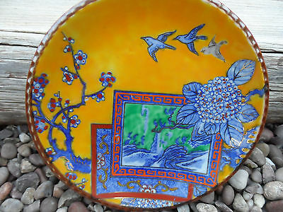Antique/Vintage Oriental Satsuma Japanese ceramic Charger / Wall Plate