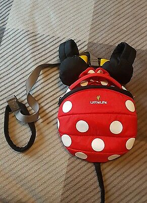 Little life backpack reins Minnie Mouse