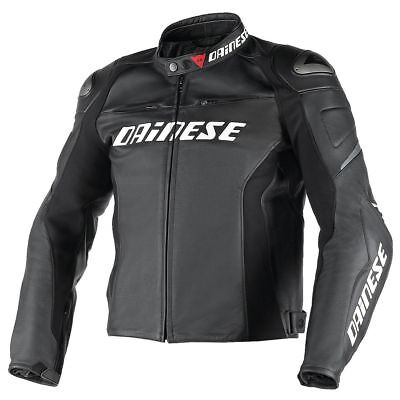 Dainese G. Racing D1 Perforated Black Black Black leather jacket, NEW!