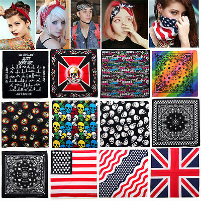 CHIC Cotton Paisley Bandanas Head Wrap Scarf Wristband Handkerchief Double Sided