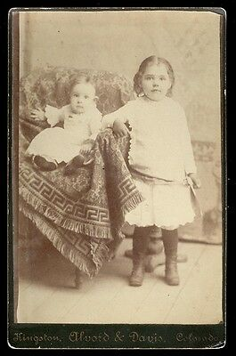 1890s KINGSTON COLO, MOUNTAIN GHOST TOWN, AUTHENTIC OLD PHOTO CABINET CARD  AD25