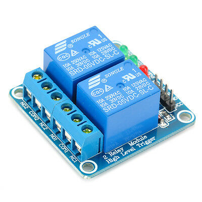 5V 2-Channel Relay Module with optocoupler for Arduino Uno R3 PIC ARM DSP AVR