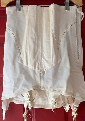 Size 31 (Large/XL) Vintage-New Open Girdle Tru Balance Hyaline High-Waist Zipper