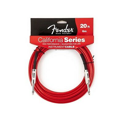 Fender® 20'  California Series Instrument Cable Candy Apple Red # 0990520009