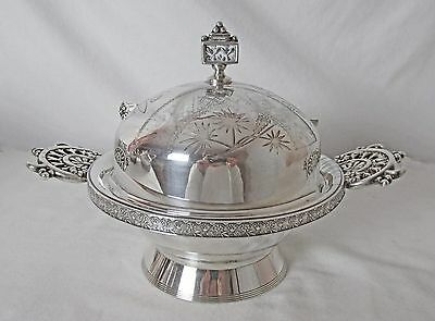 Meriden Silver Plated Butter Dish Reed & Barton Knife 1800's Striking Piece