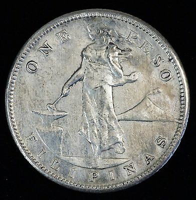 1909 S US-Philippines 1 One Peso Silver Crown Dollar Coin (LV#609)