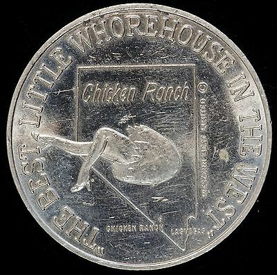 Las Vegas Chicken Ranch 'The Best Little Whorehouse in the West' Drink Token
